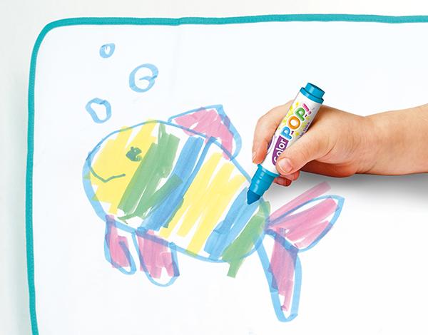Crayola ชุดเสื่อระบายสีผืนใหญ่พร้อมสีเมจิกลบได้ : 04-0034