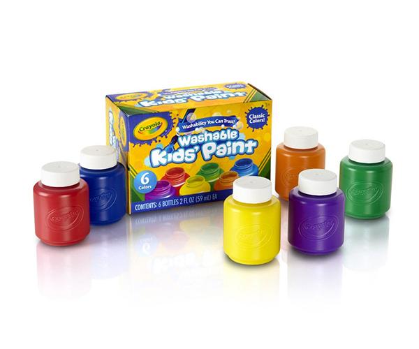 Crayola สีน้ำล้างออกได้ 6 สี ในขวดพลาสติกขนาด 2 ออนซ์ : 54-1204