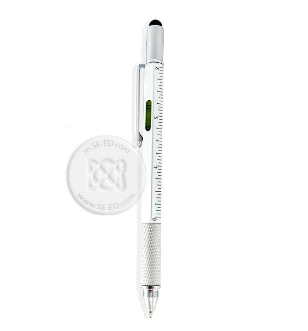 ปากกาสารพัดประโยชน์ 5in1 สีเงินบรอนซ์ : Smart Pen 5in1