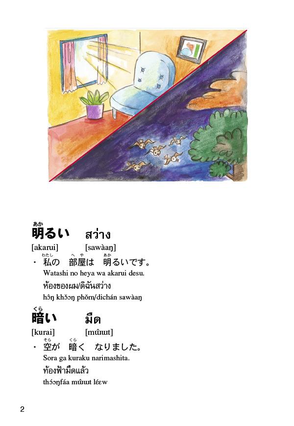 บัตรช่วยจำ ศัพท์ญี่ปุ่น-ไทย ชุดคำคุณศัพท์ (PDF)