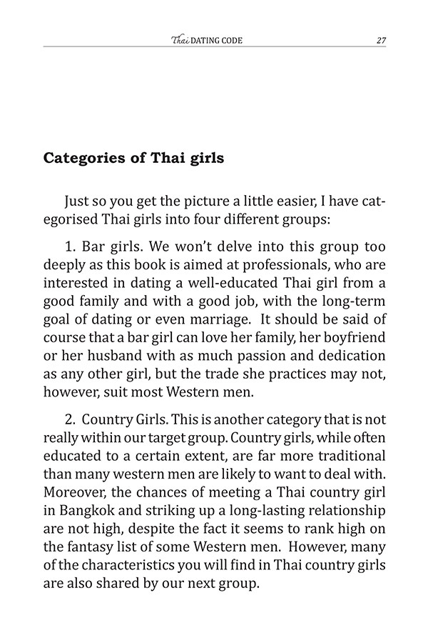 Thai Dating Code : The Guidebook for Getting to Know Decent Thai Girls (PDF)
