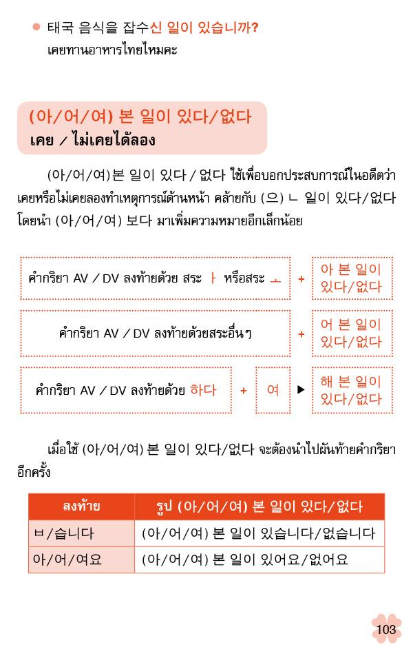ไวยากรณ์เกาหลีระดับกลาง (PDF)