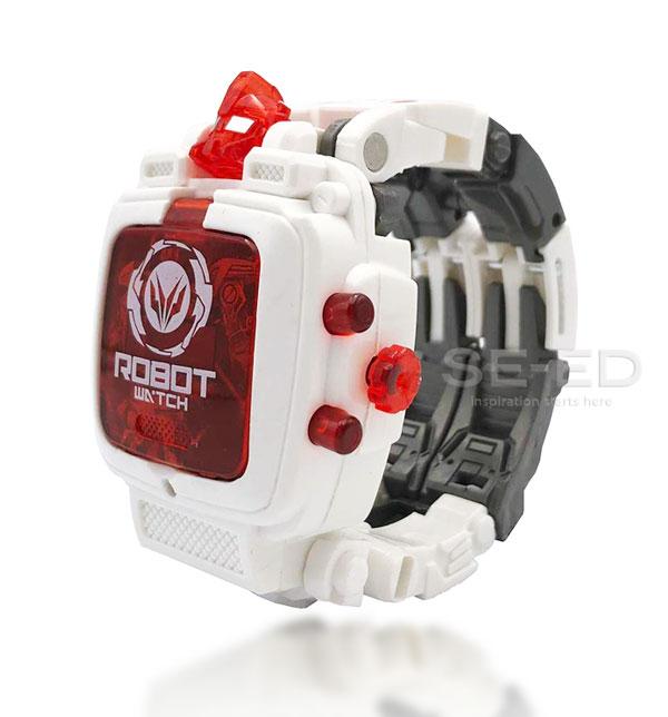 Robot Watch 2 นาฬิกาหุ่นยนต์ 2 สีขาว