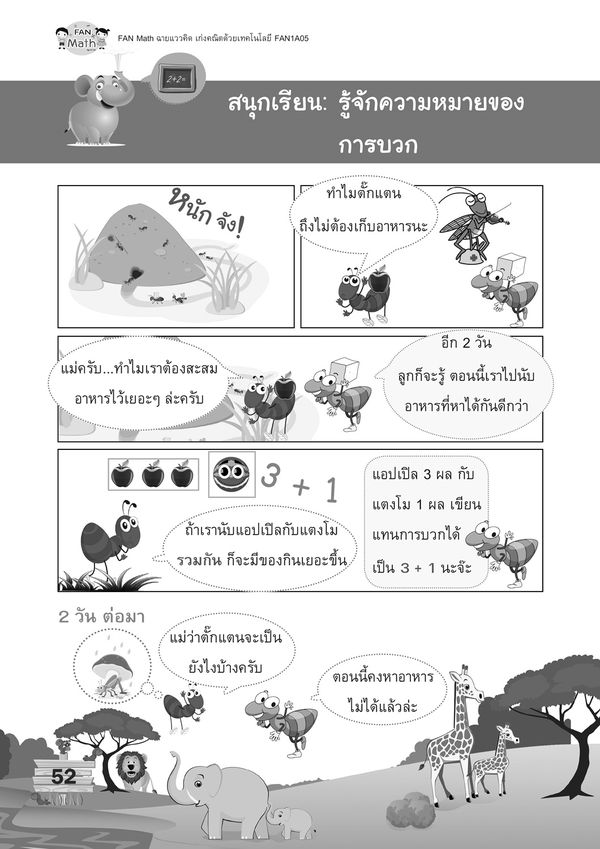 ชุดหนังสือแบบฝึกคณิตศาสตร์ FAN Math 1 เทอม 1 (Book Set)