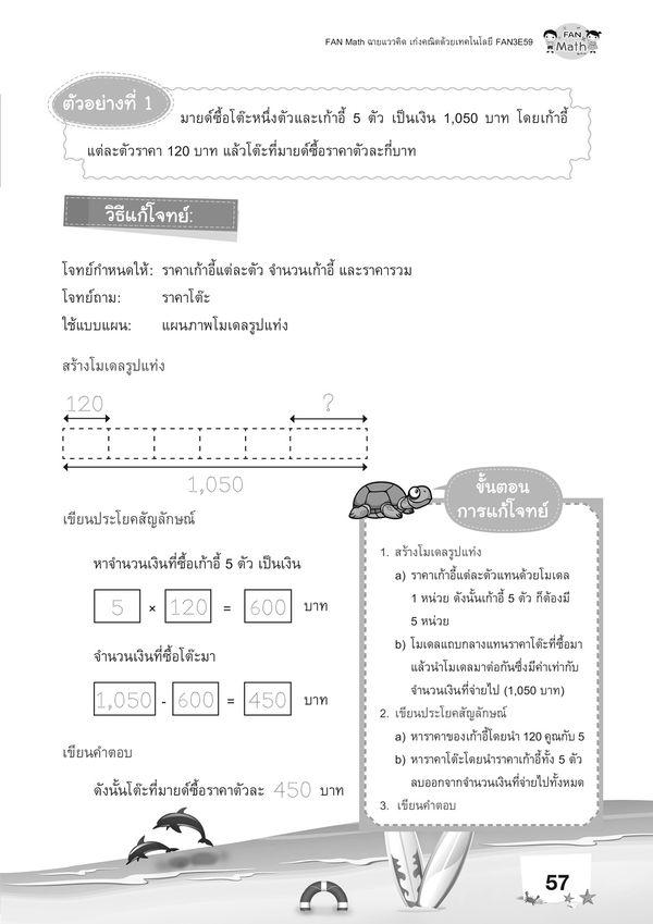 ชุดหนังสือแบบฝึกคณิตศาสตร์ FAN Math 3 เทอม 2 (Book Set)
