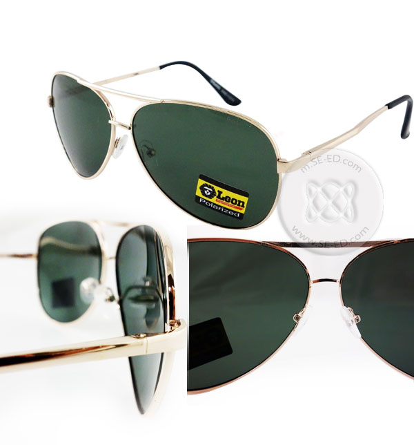 แว่นกันแดด Polarized : Leon กรอบสีเงิน