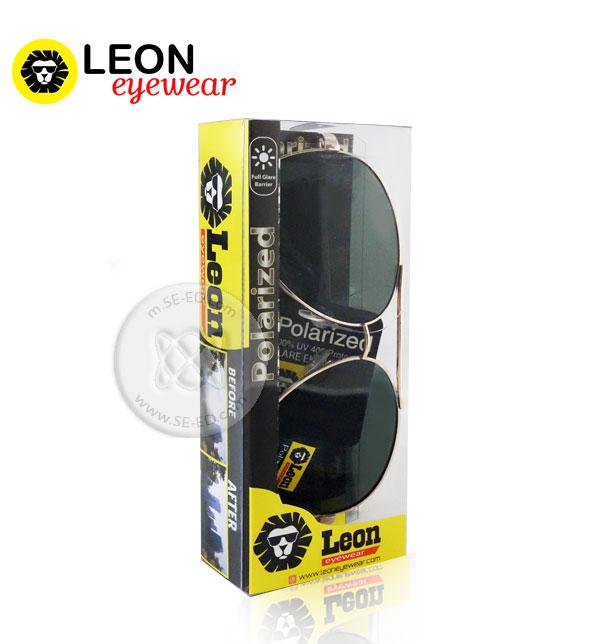 แว่นกันแดด Polarized : Leon กรอบสีทอง