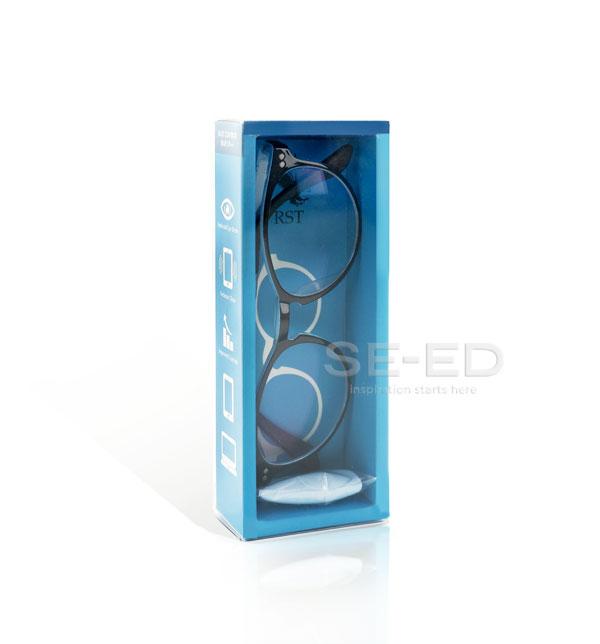 แว่นตาตัดประกอบ เลนส์ Blue W04-สีดำ