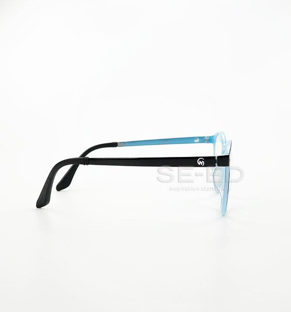แว่นตาตัดประกอบ เลนส์ Blue W06-สีแดง