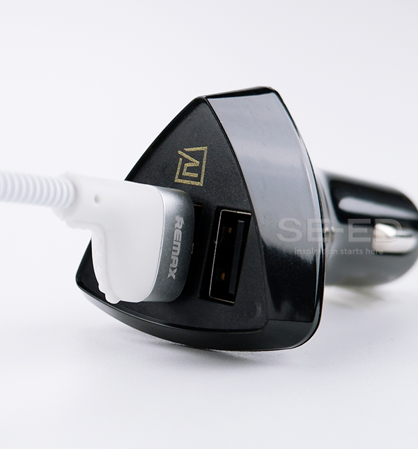 ที่ชาร์จโทรศัพท์ในรถยนต์ Remax รุ่น RCC-304 สีดำ