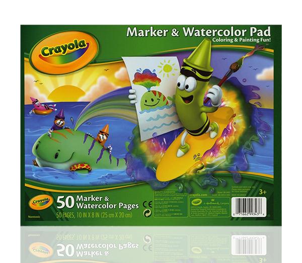 Crayola กระดาษวาดรูปสำหรับสีเมจิกและสีน้ำ ขนาด 10x8 นิ้ว 50 แผ่น : 99-3403