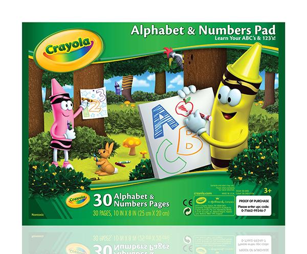 Crayola กระดาษฝึกเขียนอักษรและตัวเลข ขนาด 10x8 นิ้ว 30 แผ่น : 99-3406