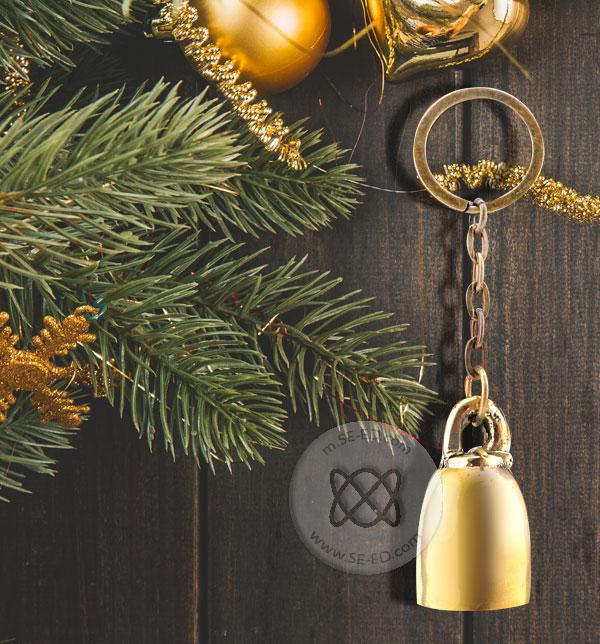 พวงกุญแจกระดิ่งทองเหลืองขัดเงาสยามเบลล์ SBK-021