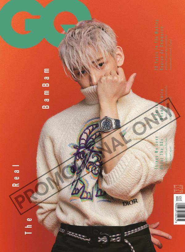 นิตยสาร GQ Thailand ปกแบม แบม (ปกสีส้ม)