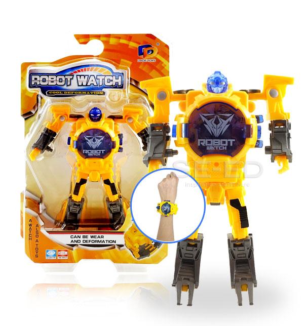 Robot Watch 2 นาฬิกาหุ่นยนต์ 2 สีเหลือง