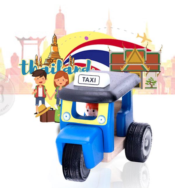 รถตุ๊กตุ๊กไม้ : Wonderworld Mini Tuk Tuk