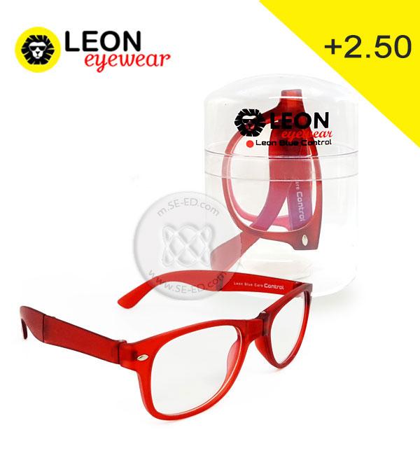 แว่นสายตายาว Leon Blue Care Control + 2.50 สีแดง : รุ่น PRA-VV18