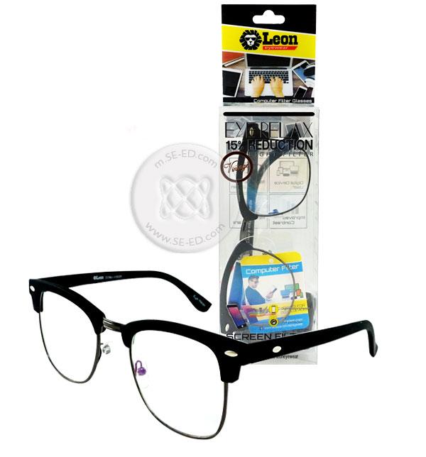 แว่นถนอมสายตา กรอบ-ขาสีดำด้าน โลหะสีกัน : Eye Relax Vintage รุ่น Comj-v3025