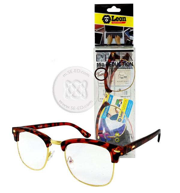 แว่นถนอมสายตา กรอบ-ขาสีน้ำตาลกะ โลหะสีทอง : Eye Relax Vintage รุ่น Comj-v3025