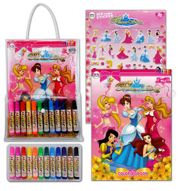 ระบายสี Princess Story No.2 (บรรจุกระเป๋า : Set)