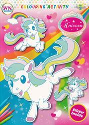 Colouring Activity Unicorn No.2