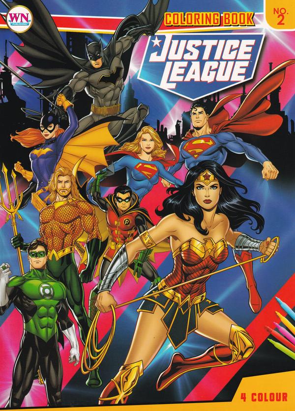 สมุดภาพระบายสี Justice League No.2