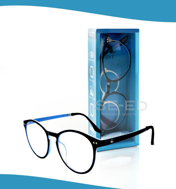 แว่นตาตัดประกอบ เลนส์ Blue W01-สีน้ำเงิน