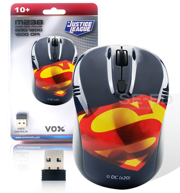 Vox เม้าส์ไร้สาย Superman #F5MOU-VXSU-W002