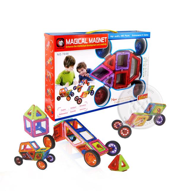 ตัวต่อแม่เหล็ก 46 ชิ้น Magical Magnet