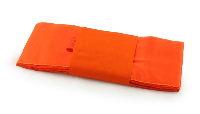 ผ้าไตรครอง ผ้าโทเรเกรด A สีเหลืองส้ม