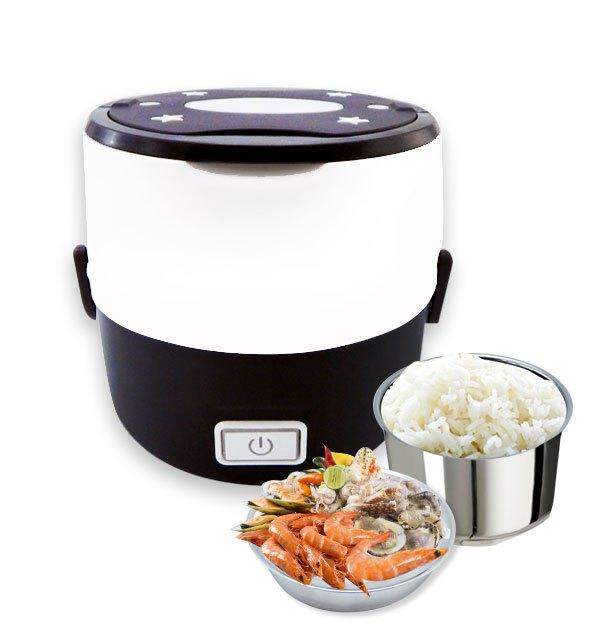 กล่องอุ่นอาหารอเนกประสงค์ Smart Lunch S-15 2 ชั้น สีน้ำตาล 1.0 ลิตร