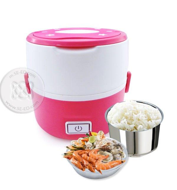 กล่องอุ่นอาหารอเนกประสงค์ Smart Lunch S-15 2 ชั้น สีชมพู 1.0 ลิตร