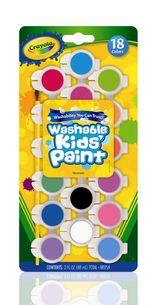 Crayola สีน้ำล้างออกได้ 18 สี ในขวดมีฝาปิดเก็บได้พร้อมพู่กัน : 54-0125