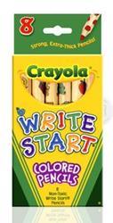 Crayola สีไม้สำหรับเด็กเล็ก 8 แท่ง : 68-4108