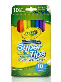 Crayola สีเมจิกล้างออกได้ 10 สี ซุปเปอร์ทิปส์ : 58-8610