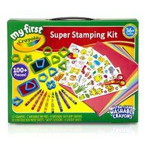 Crayola ชุดปั๊มลายพร้อมอุปกรณ์สำหรับเด็กเล็ก : 81-1357