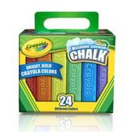 Crayola สีชอล์กล้างออกได้ แท่งใหญ่ 24 แท่ง : 51-2024