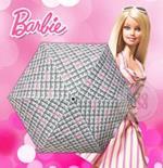 ร่มพับ 3 ตอน ปากกา Barbie 29 นิ้ว ขาวพิมพ์ลาย