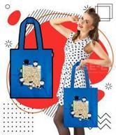 กระเป๋าผ้าแคนวาส ลายคุณแป้ง เด็กผู้ชาย สีน้ำเงิน +ซับใน 600 D ขนาด 14x15x4.5 นิ้ว
