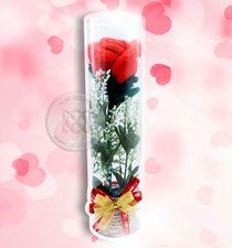 ดอกกุหลาบโครเชต์สื่อรัก