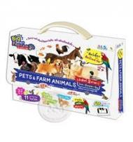 "Big Smart Flash Cards for Genius Kids ชุดสัตว์เลี้ยงและสัตว์ในฟาร์ม ""Pets & Farm Animals"" (Jumbo Size)"