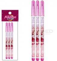 ดินสอต่อไส้ Sailor Moon สีชมพู แพ็ก 3 แท่ง