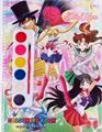 สมุดภาพระบายสี Sailor Moon +สีน้ำ