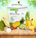 กรีนเดย์ผลไม้รวมกรอบ 55 กรัม  : Greenday Mixed Fruit Chips