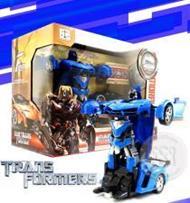 หุ่นยนต์แปลงร่างบังคับวิทยุ (สีน้ำเงิน) Car Transformer