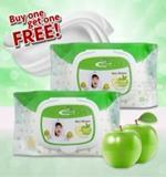 ทิชชูเปียก เฟรชพลัส เว็ทไวท์ กลิ่นแอปเปิ้ล : Fresh Plus Wet Wipes Apple Fragrance 30 ชิ้น
