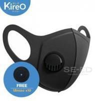 หน้ากากพร้อมวาล์ว Kireo +ไส้กรอง 10 ชิ้น กัน PM2.5 MA-121