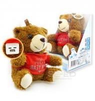 แบตสำรองตุ๊กตาหมี Wealth ความจุ 10000 mAh สีน้ำตาล