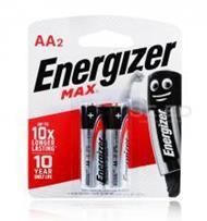 ถ่านอัลคาไลน์ เอเนอไจเซอร์แม๊กซ์ E91 AA แพ็ก 2 ก้อน (Energizer Max Alkaline E91 AA BP2)