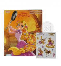 Disney Princess : ระบายสีเจ้าหญิงผมยาว Rapunzel Coloring Book +สมุดสติกเกอร์แสนสนุก